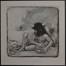 Mixed Media Greek Mythology Painting By Salvatore Lacca - Minotaur