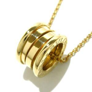 Auth BVLGARI B-zero1 18K Yellow Gold Necklace