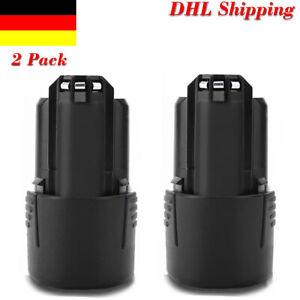 2x 3.0AH 10.8V Li-ion Akku für Bosch GDR GSR GSA GSB GSC 10.8 V-LI BAT411 BAT412