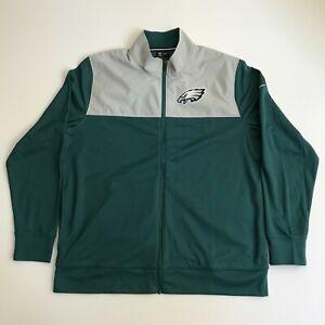 Nike Mens Large Philadelphia Eagles NFL Football Full Zip Jacket Green NKB6-003K
