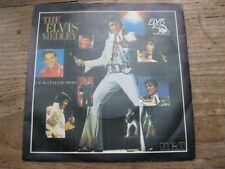 "EX   ELVIS PRESLEY - The Elvis Medley / Blue Suede Shoes - 7"" single"