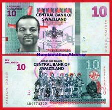 SWAZILAND 10 Emalangeni 2015 2017 Vision 2022 Pick NEW - UNC