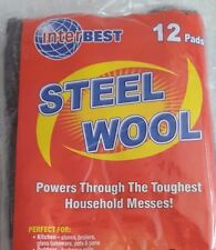 Steel Wool Home Kitchen Cleaning Products 12 Pads Pack Household Messes New