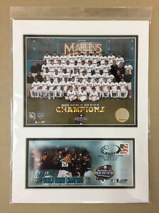 FLORIDA MARLINS WORLD SERIES 12X16 MATTED PHOTO & EVENT COVER IVAN RODRIGUEZ HOF