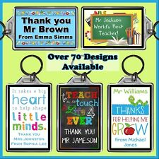 Personalised Teachers Key Ring - 7x5cm Keyring Chain- End of Year Thank You Gift