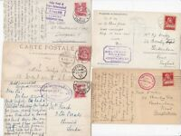 # 1902/38 5 x DIFF SWITZERLAND HOTEL CACHETS ON PPCs LUGANO TERRITET ALL TO UK