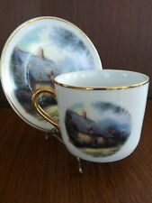 "Thomas Kinkade ""Moonlight Cottage"" Cup and Saucer Set by Teleflora"