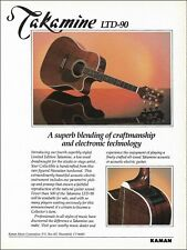 Takamine LTD-90 Koa Wood Dreadnought acoustic guitar advertisement 1990 ad print