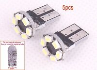 5pc 6SMD LED T10 194 168 W5W Vehicle Car Canbus Wedge Parking Si​​de Light White