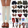 Womens Winter Knitted Boot Cuffs Socks Toppers Leg Warmers Fancy Stockings Soft