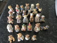 Vintage Lot of 28 Homco Ceramic Teddy Bear Figures