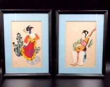 BEAUTIFUL FRAMED CHINESE 2 DIMENSIONAL RICE PAPER PORTRAITS STAMPED BY ARTIST