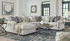 NEW Sectional Living Room Furniture - 4pcs Light Gray Fabric Sofa Chaise Set G0N