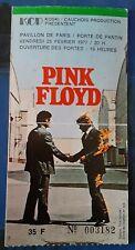 ticket billet used stub place concert PINK FLOYD 1977 PARIS