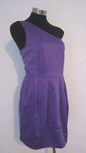 NEW! One Shoulder Satin Purple Dress by 'Gossip Girl' Size 16 L