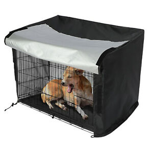 Dog Pet Cage Crate Cover 78x54x59 CM Waterproof Heavy Duty Black