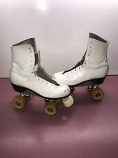Pre Owned Very Nice Vintage Sure Grip Roller Skate's Size 7 White