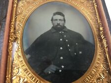 Rare Sixth Plate Ambrotype of a Confederate Id Soldier 4th Virginia Cavalry
