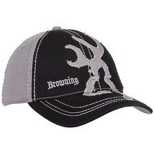 Browning Men's Buckmark Distressed Logo 2-Tone Baseball Cap  Black / Grey