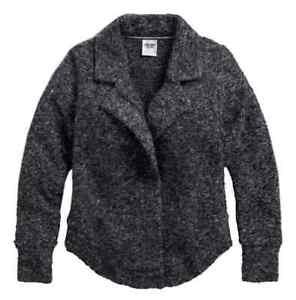 Harley Davidson Women's Zip Cardigan Sweater Knit 96051-17VW, RRP £135, XL