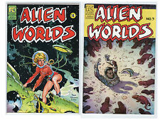2 sci-fi Comic books of 1982  issue 3 and 4 Alien Worlds #232
