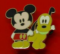 Used Disney Enamel Pin Badge Mickey Mouse & Pluto