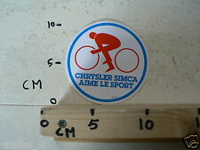 STICKER,DECAL CHRYSLER SIMCA AIME LE SPORT CAR AUTO ? CYCLING