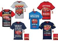 Boys Kids Children Disney Cars Short Sleeve Tee Tshirt Top T-shirt Age 2-8 years