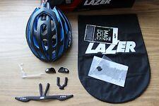 Lazer Z1 Road Racing Bike Helmet Black w/Blue Lightweight Small 52-56cm Rollsys