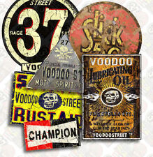 1930s HOT ROD VINTAGE 37 STICKER PACK BY VOODOO STREET™, custom car, rat rod