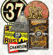 Hot Rod Vintage 37 Sticker Pack par Voodoo Street ™, Custom Voiture, Rat Rod, Camper