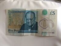 Collectable £5 Five Pound Note Holy Serial Number 786