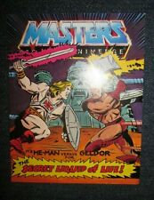 VTG 1983 MOTU  HE-MAN VS GELDOR FOR THE SECRET LIQUID OF LIFE  MINI COMIC BOOK