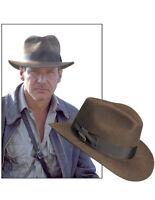 NEW NWT Official Indiana Jones Fedora 2.5 in. Brim Wool Felt Hat Brown