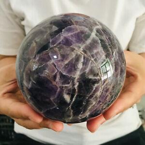 Natural Dream Amethyst Quartz Crystal Sphere Ball Healing 1695g