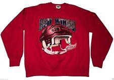 Vintage 90s (XL) Lee DETROIT RED WINGS Crew Sweatshirt Hockey NHL Helmet Motor