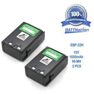 2x 12V 1650mAh EBP-22 EBP-22N Battery for ALINCO DJ-180 DJ-480 DJ-580 DJ-582