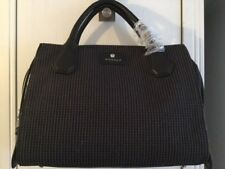 MODALU BLACK WILLOW TWEED TRIPLE COMPARTMENT GRAB HANDBAG LARGE BNWT