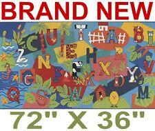 6' X 3' Alphabet Classroom Area Rug/Carpet,Kids Game Room,New