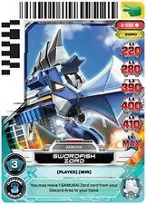 POWER RANGERS CARD GUARDIANS OF JUSTICE :Swordfish Zord 010 X 4