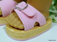 """**SALE** PINK Buckle Strap DOLL SANDALS SHOES fits 18"""" AMERICAN GIRL DOLL"""