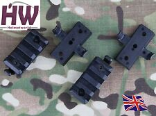 Airsoft AF OPS Mich Nero Core Casco Rail Clip Di Blocco Mounts UK