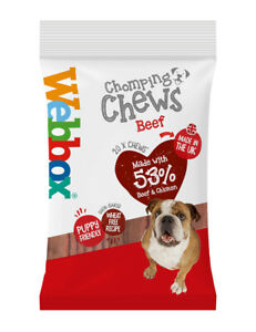 (12 x 20 Packs) Webbox Chomping Chomp Chews Dog Treat Reward