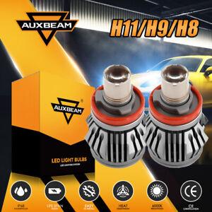 AUXBAM H11 H9 H8 LED Headlight Bulb W decoder 6000K Super Bright Laser Fog Light