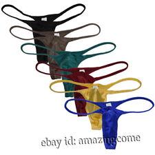 Men's Shiny G-string Swim Thong Bikini Underwear Male Jockstrap Tangas G-String