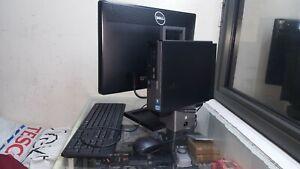 """Dell All-in-one Optiplex 7010 SFF 22"""" Screen Intel Core i3 3.40GHz 4GB 320GB DVD"""