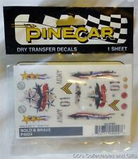 Pinecar Dry Transfer Decals Bold & Brave P4024 for Pine Wood Derby Cars