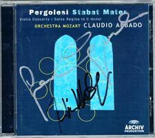 Giuliano CARMIGNOLA, Julia KLEITER Signiert PERGOLESI Violin Stabat Mater ABBADO