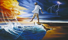 "African American Black Art Print ""STEP OUT ON FAITH (MALE)"" by Wak"
