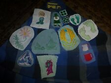 Vintage Homemade Hang Ten School Misc Embroidery Remnant Patch Lot Of 13 Unique